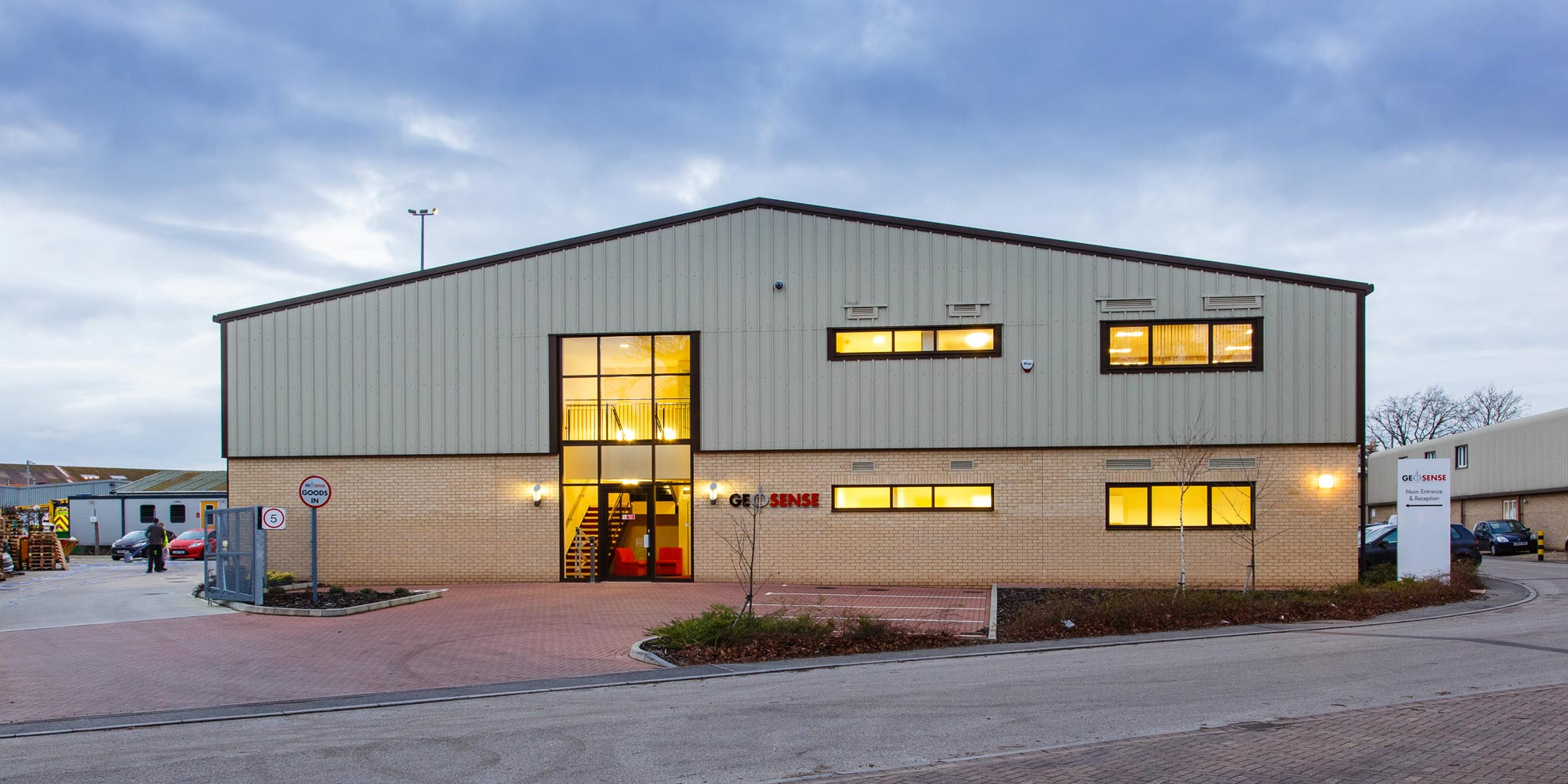 Geosense headquarters & manufacturing base in Bury St Edmunds, England