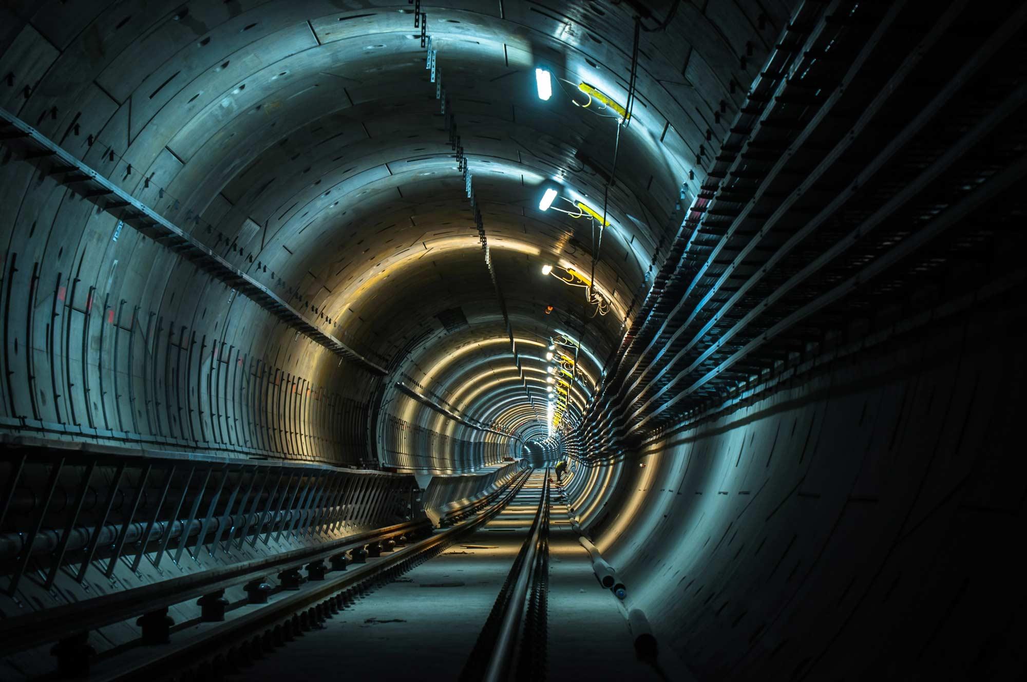 Metro tunnel post construction