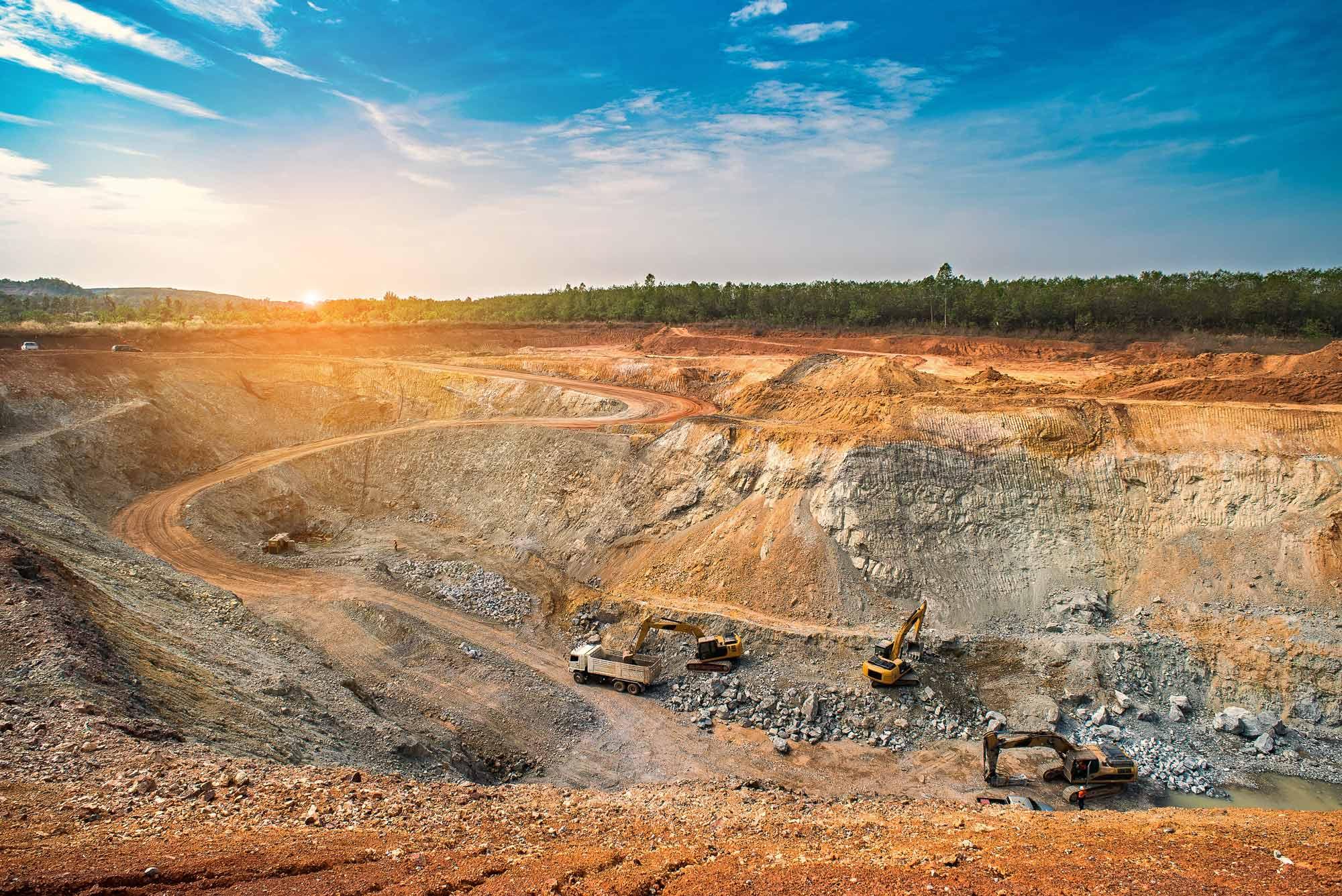 Open cast mine slope monitoring