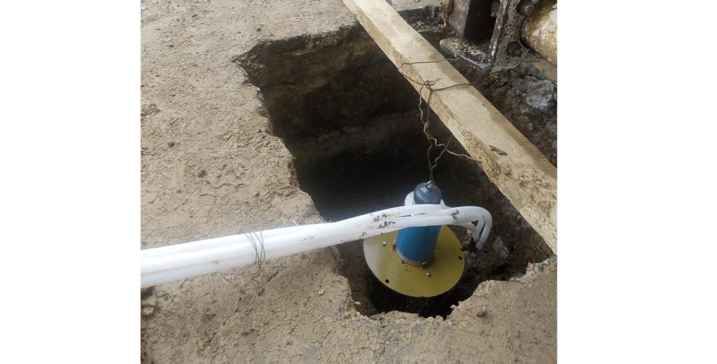 GXB-2 Borehole Rod Extensometer head at top of borehole on Bucharest Metro