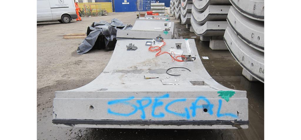 Installing Geosense instruments and data loggers into precast concrete segment for Thames Tunnel