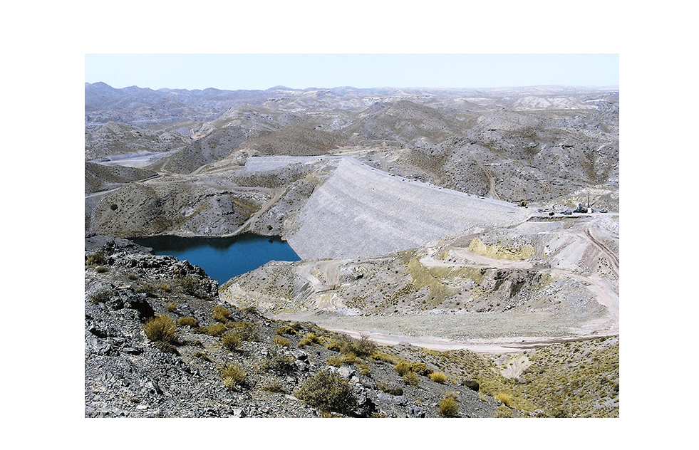 View of dam and reservoir