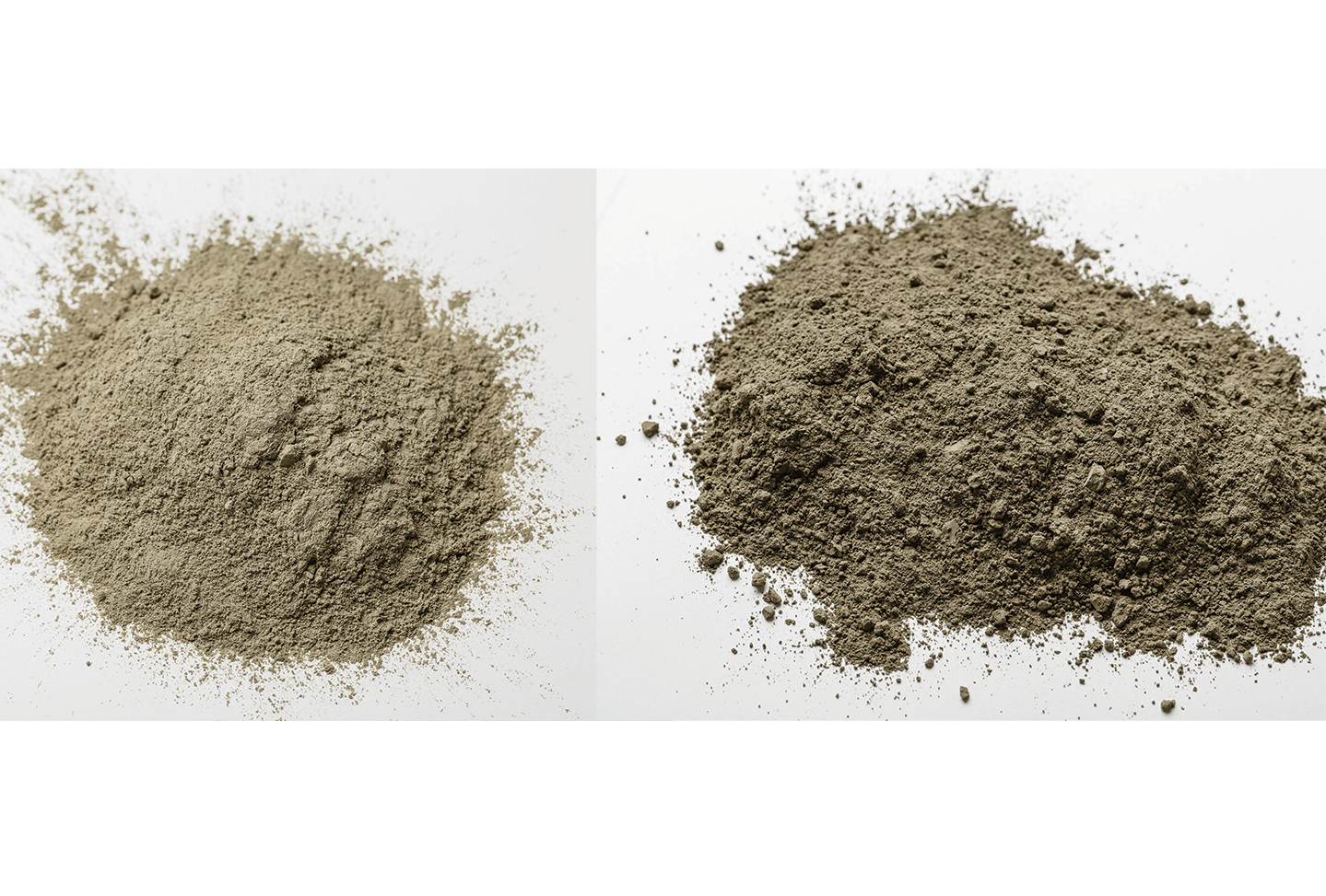 Cement and Bentonite p[powder in Grout Mix
