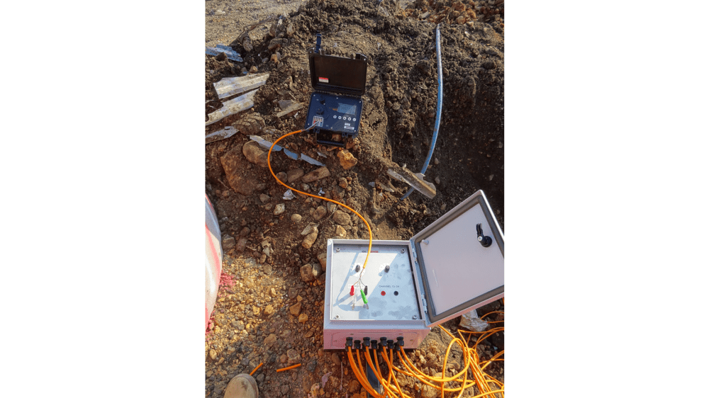 Geosense rotary terminal switch box on site linked to readout