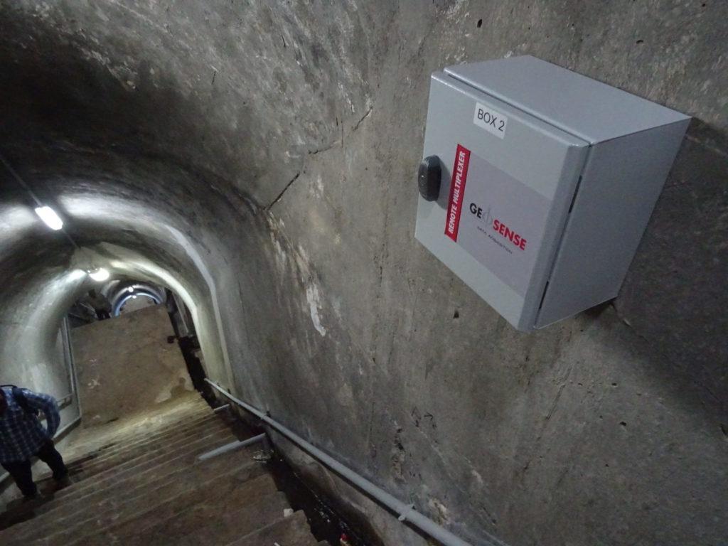Geosense Remote SmartMux mounted in dam gallery