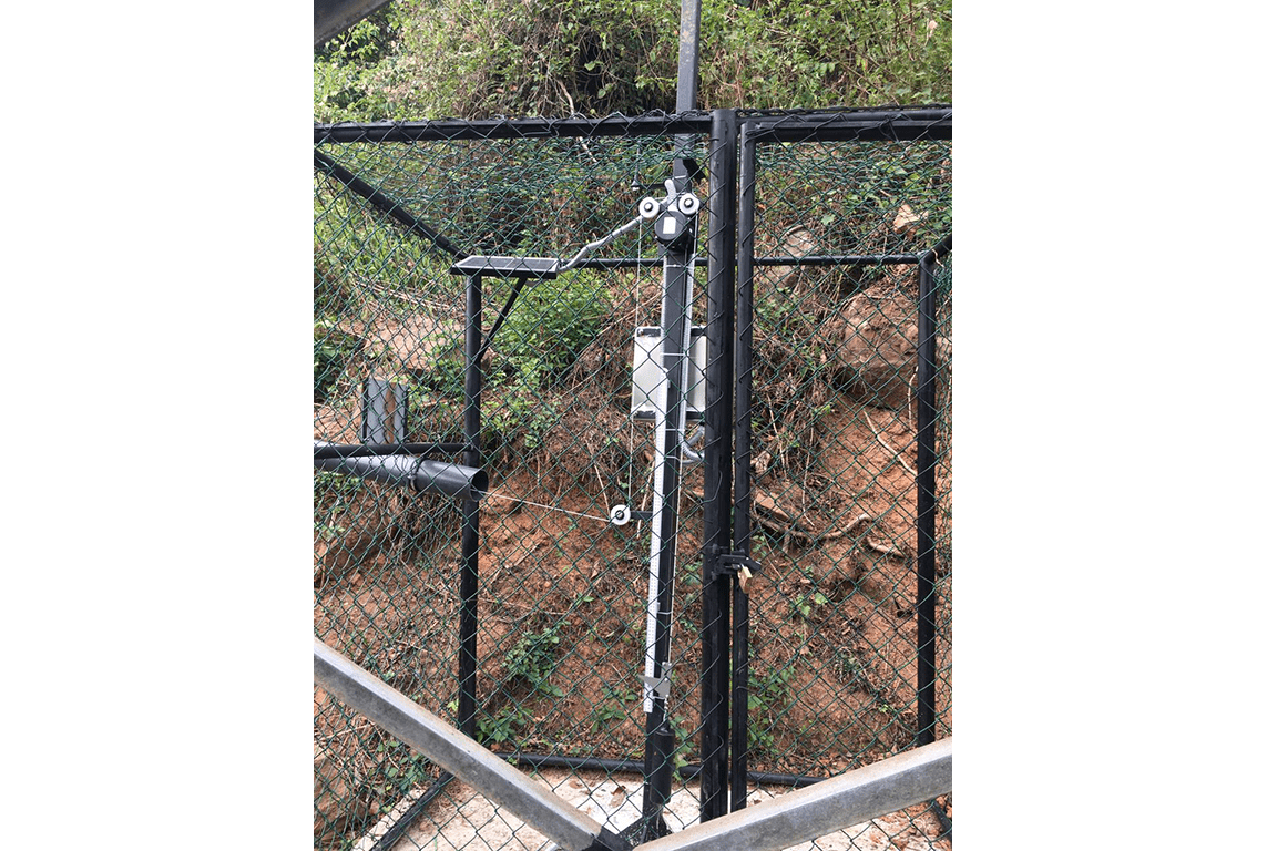 Geosense GEO-XW100 rotary wire extensometer installed on slope for the CRiP project