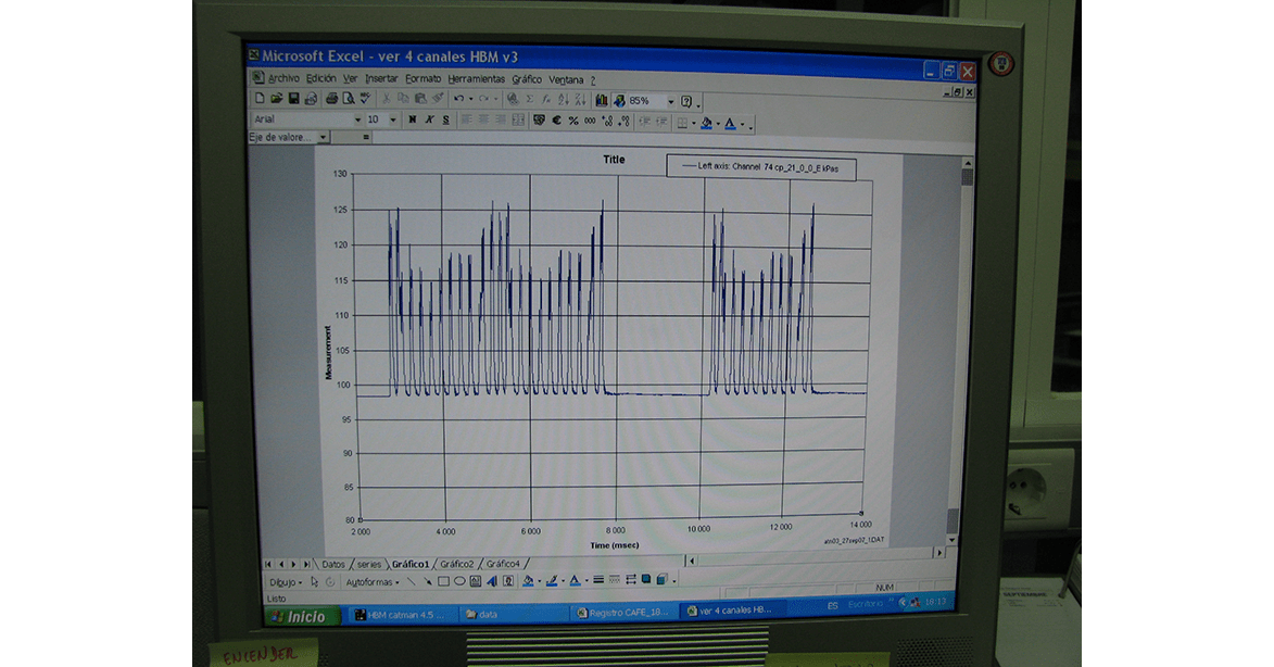 Output signal from Total Pressure Cells at CEDEX