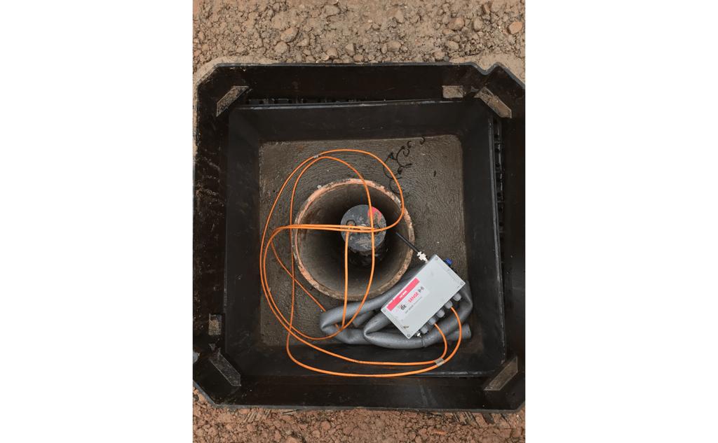 WI-SOS 480 Node inside borehole cover