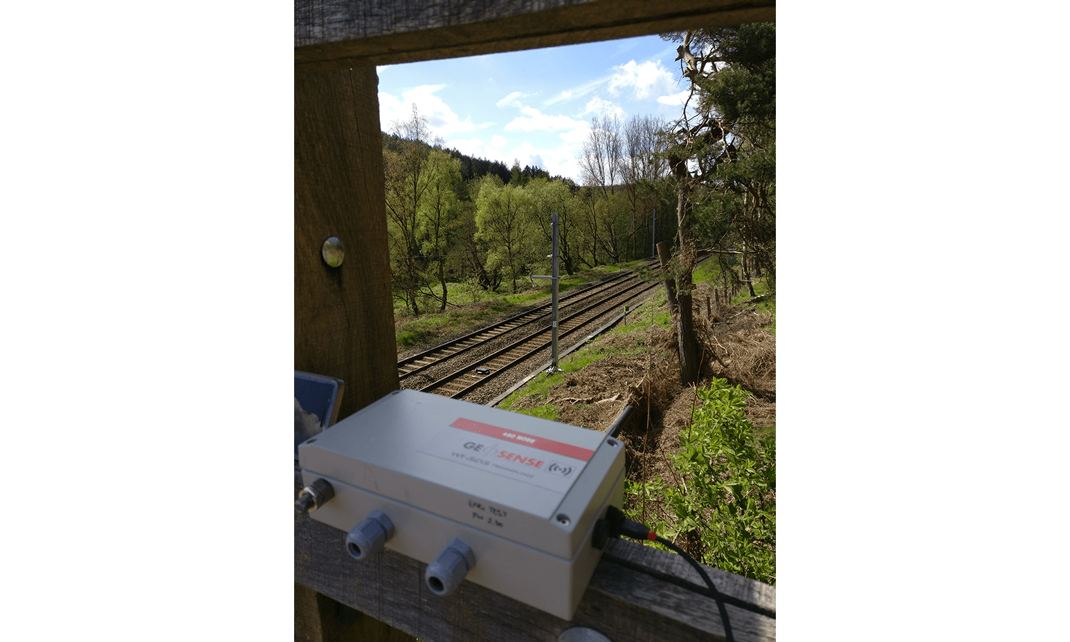 Signal coverage testing from bridge of WI-SOS 480 system on the Chase Line