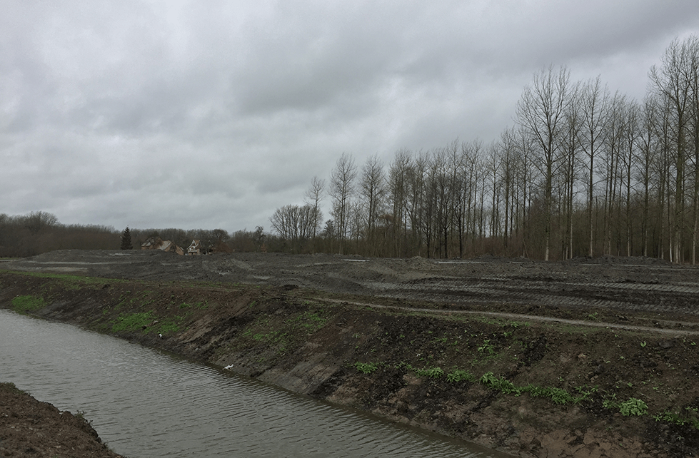 Belgian wetlands with canal