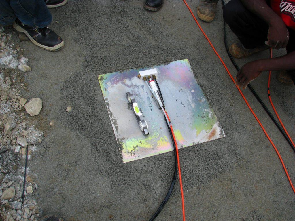 Vibrating wire VWLSS-200 settlement plate installed at Kashimbila dam