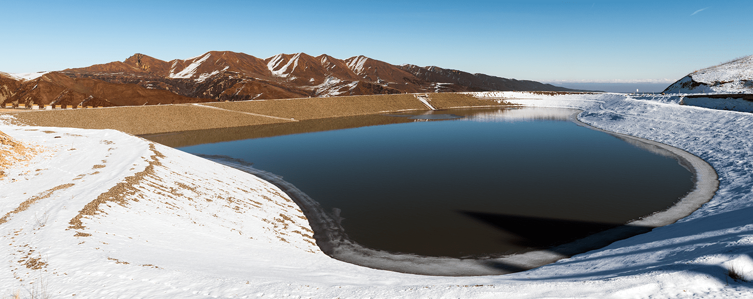 Water reservoir at Shadaq leisure centre in Azerbaijan