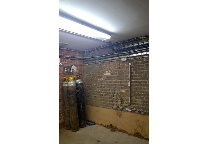 MEMS Tilt Beam mounted on wall in cellar