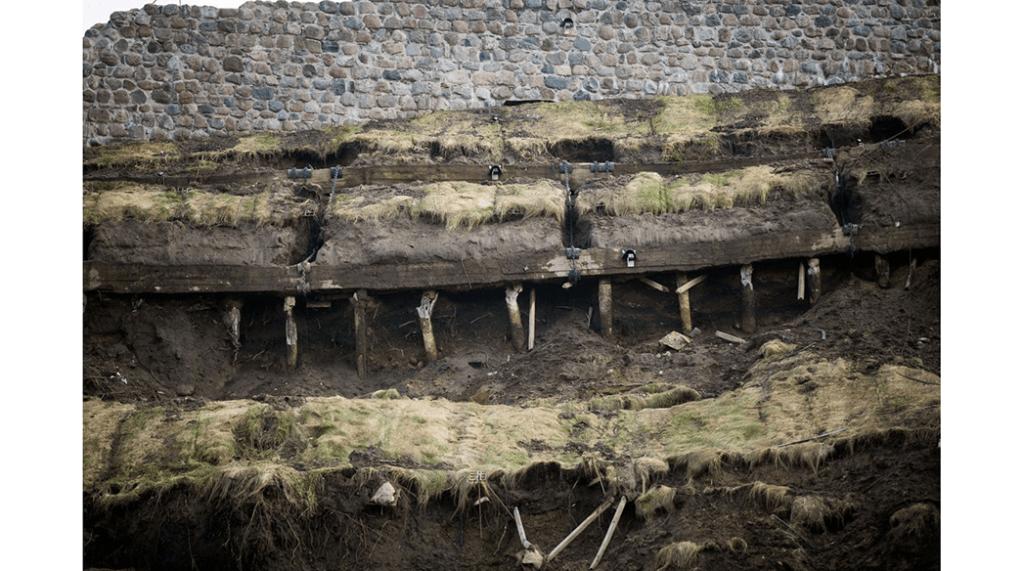 Slope failure repair at Gediminas castle