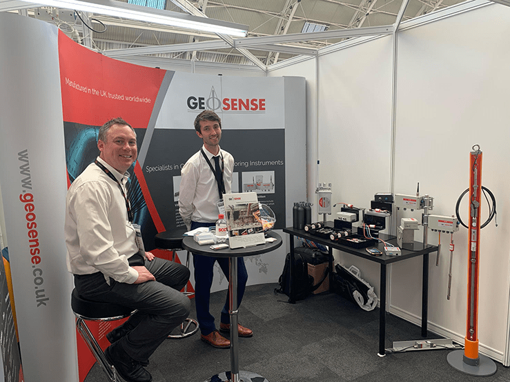 Geosense Technical Sales Engineers on stand at the Geo Business exhibition