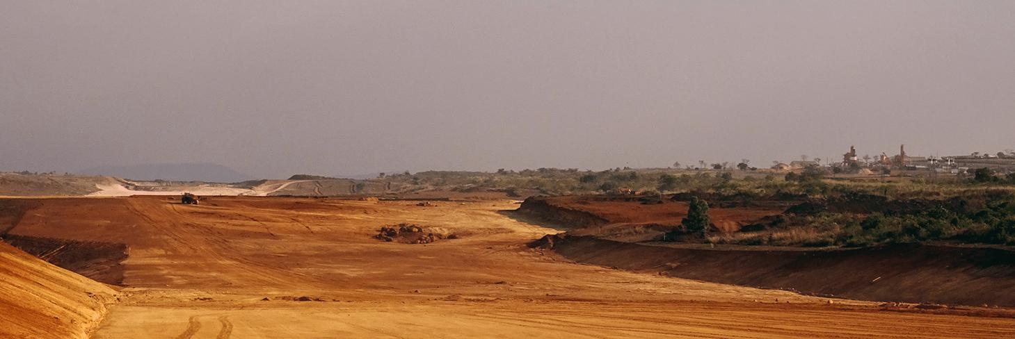 Site view of earthworks at Kabaale airport Uganda
