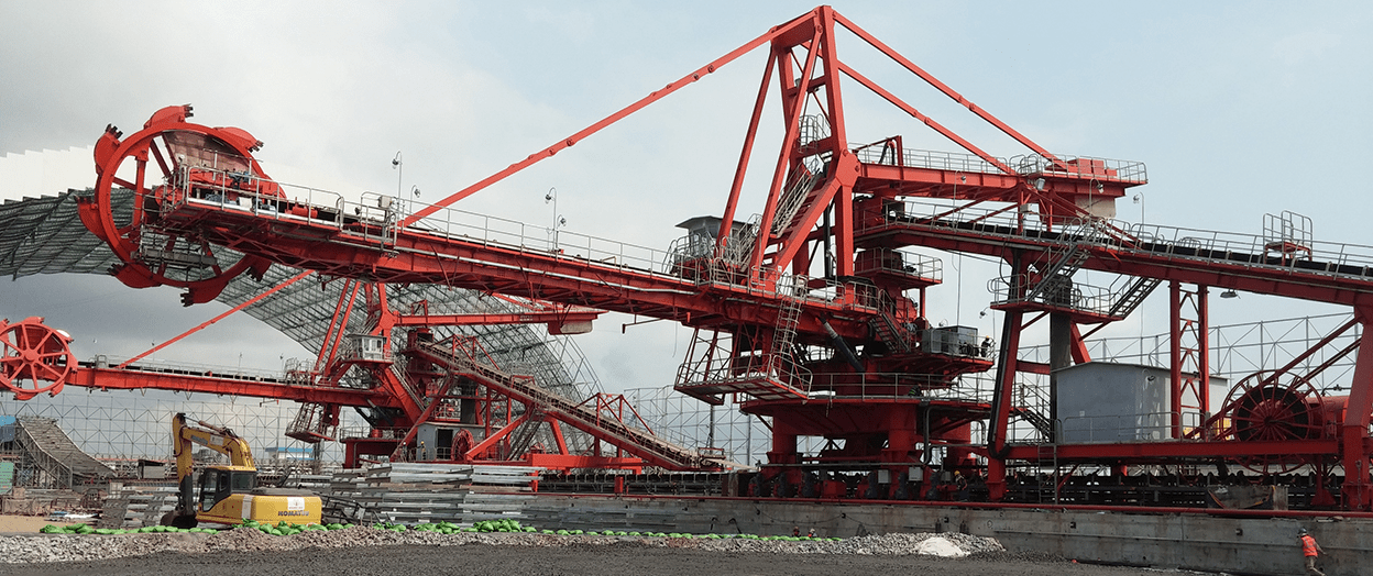 View of coal loaders Duyen Hai 3 Thermal Power Plant