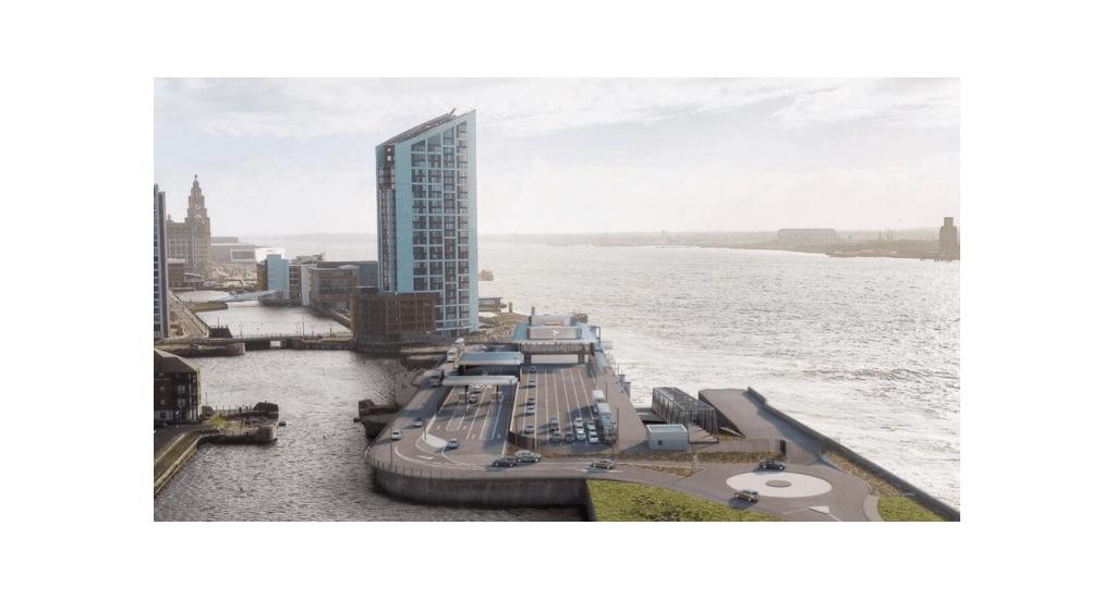 Artists impression of Liverpool Dock re-development