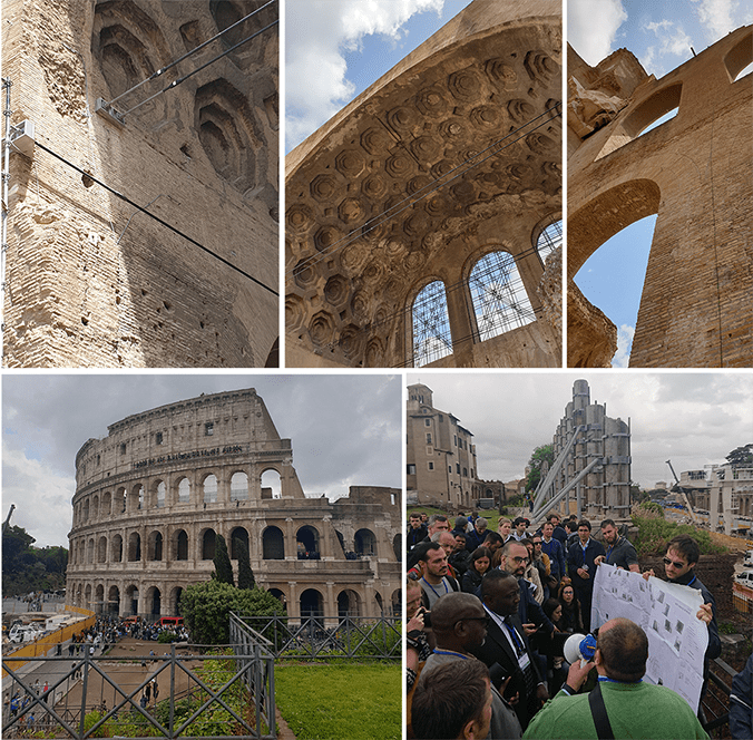 Montage of Field trip during iGSM conference in Rome with Colosseum
