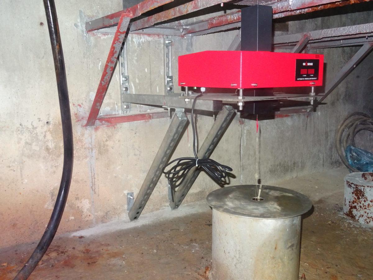 TP-2000 Telependulum installed at Baish dam