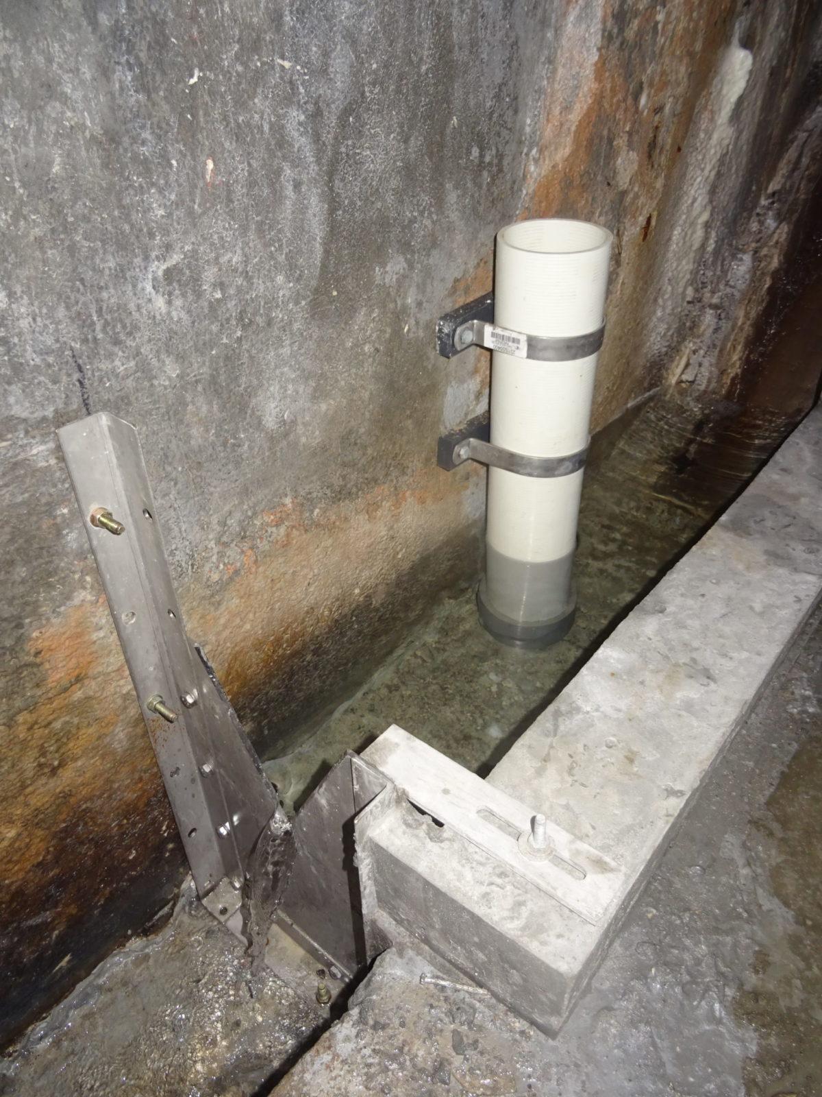Seepage monitoring at Baish dam