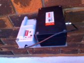 Geosense Tilt Meter and WI-SOS 100 wireless Node mounted on brick wall at Guy's Hospital