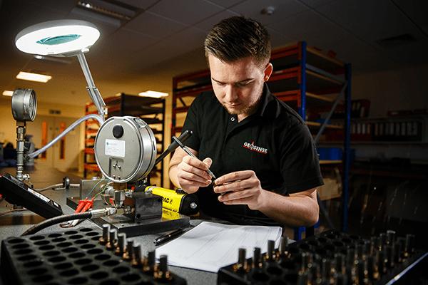 Production Engineer manufacturing Geosense VW piezometers